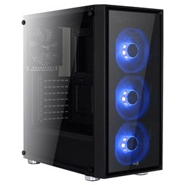 Aero Cool Quartz Mid Tower Gaming Case - Black