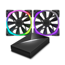 NZXT Aer RGB120 Dual 120mm Fans with HUE+ controller