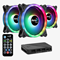 Aerocool Duo 12 Pro 120mm ARGB Chassis Fan Kit (3x Fans, ARGB Hub, Remote)