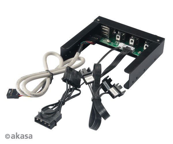 Akasa Fan Controller 3 5 Quot Brushed Aluminium Panel Usb2 0