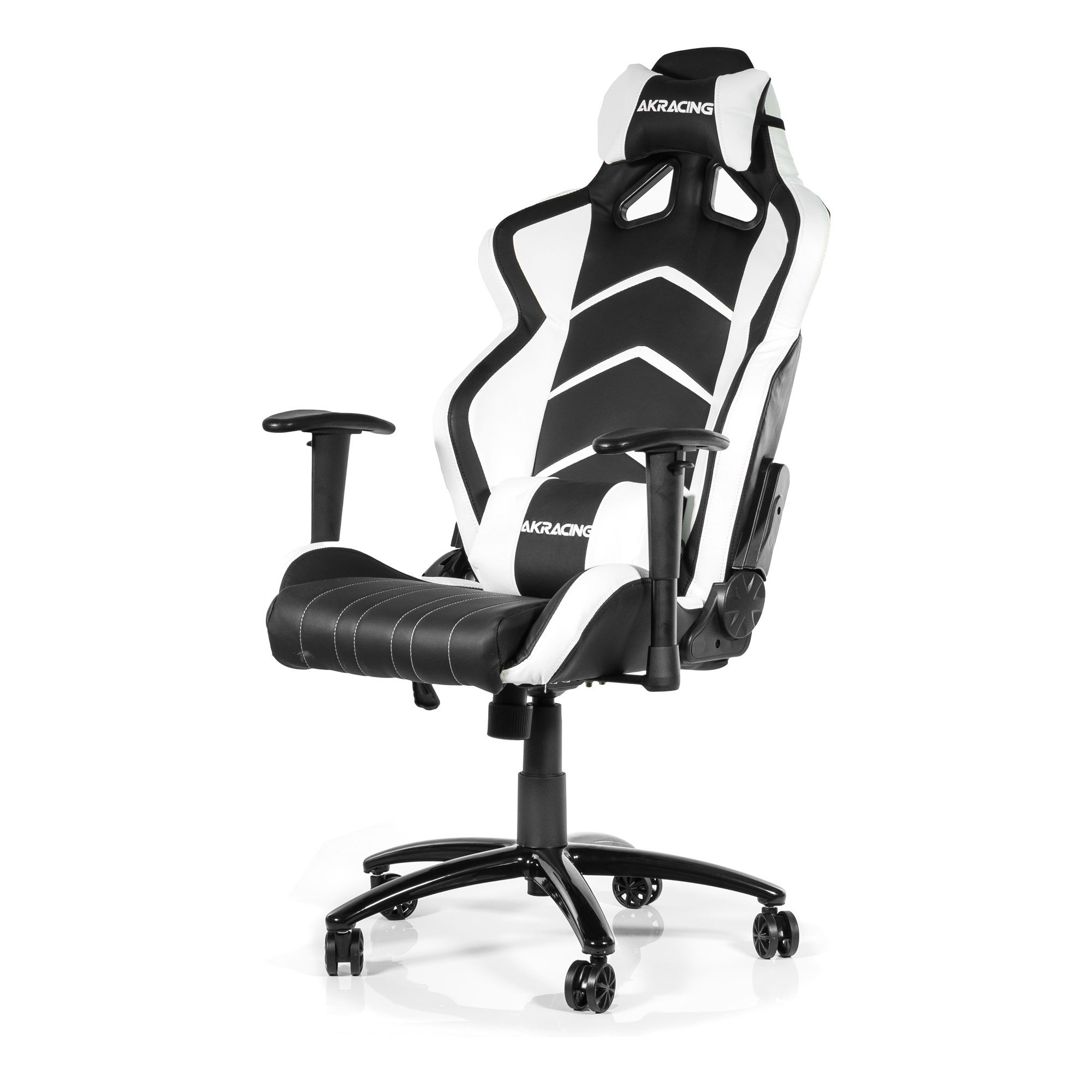 ak racing player gaming chair black white ak k6014 bw ccl computers. Black Bedroom Furniture Sets. Home Design Ideas