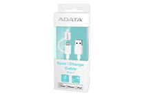 ADATA Sync and Charge Lightning Cable for Apple Devices (White)