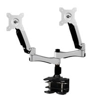 Amer AMR2AC Articulating Dual Monitor Arm with Clamp Mount