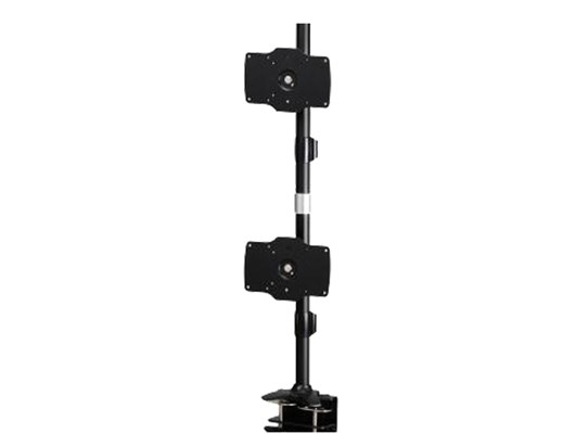 Amer AMR2C32V Dual Vertical Monitor Mount with Clamp Base