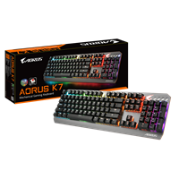 Gigabyte AORUS K7 RGB Mechanical Gaming Keyboard with Cherry MX Red Switches (UK QWERTY)