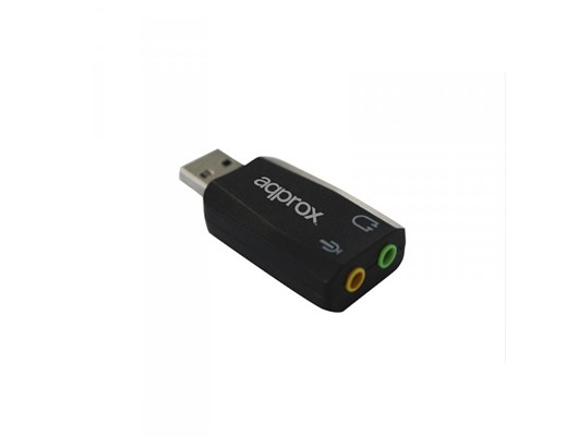APPROX USB 2.0 5.1 External Sound Card with 3D Sound & Microphone/Audio Connectors, Black (APPUSB51)