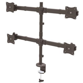 StarTech.com Desk-Mount Quad-Monitor Arm - Articulating - Heavy Duty Steel