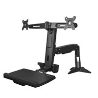 StarTech.com Sit-Stand Dual-Monitor Arm (Black)