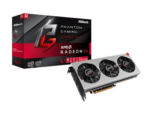 ASRock Radeon VII Phantom X 16GB Graphics Card