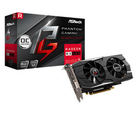 ASRock Radeon RX 580 Phantom 8GB Graphics Card