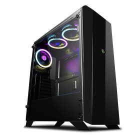 Game Max Aurora Mid Tower Gaming Case - Black
