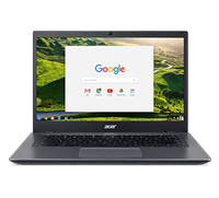 Acer Chromebook 14 for Work CP5-471-352R - Core i3 6100U / 2.3 GHz - Chrome OS - 8 GB RAM - 32 GB eMMC - 14 TN 1366 x 768 (HD) - HD Graphics 520 - Wi-Fi, Bluetooth - black, silver - kbd: UK