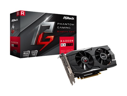 ASRock Phantom Gaming D Radeon RX570 4G *Open Box*