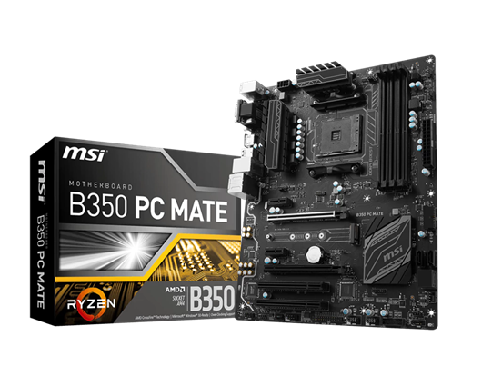 MSI B350 PC MATE AMD Socket AM4 Motherboard