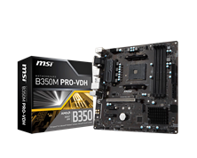 MSI B350M PRO-VDH AMD Socket AM4 Motherboard