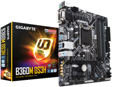 Gigabyte B360M DS3H Intel Socket 1151 Motherboard