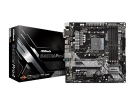 ASRock B450M Pro4 AMD Socket AM4 Motherboard