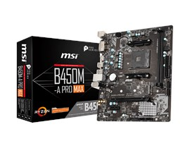 MSI B450M-A PRO MAX AMD Socket AM4 Motherboard