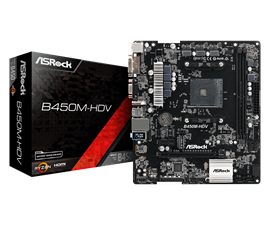 ASRock B450M-HDV AMD Socket AM4 Motherboard