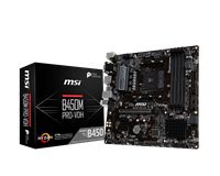 MSI B450M PRO-VDH PLUS mATX Motherboard for AMD AM4 CPUs