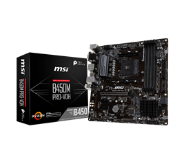 MSI B450M PRO-VDH PLUS AMD Socket AM4 Motherboard