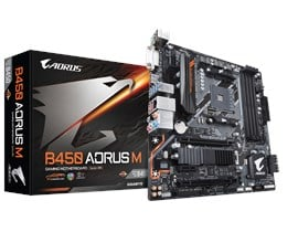 Gigabyte B450 AORUS M AMD AM4 B450 Motherboard (MicroATX) RAID Gigabit LAN (Integrated Graphics) *Open Box*