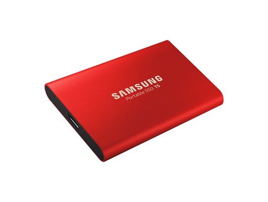 Samsung T5 MU-PA500B (500GB) USB 3.1 Gen2 Portable Solid State Drive (Red)