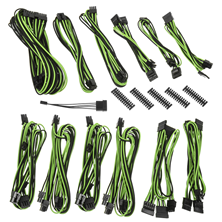 BitFenix Alchemy 2.0 PSU Cable Kit SSC-Series - Black & Green