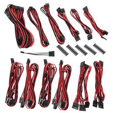 BitFenix Alchemy 2.0 PSU Cable Kit BQT-Series SP - Black & Red