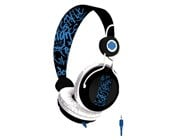 B-MOVE Sound Wave Urban  DJ Stereo Headset,       Black/Blue