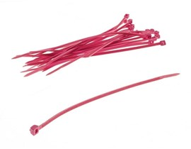 Bitspower Cable Ties - Set of 20 120mm Ties in UV Red