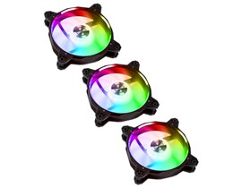 Lian Li Bora Digital RGB PWM Triple Pack - 3x 120mm Fans with Remote Controller - Black