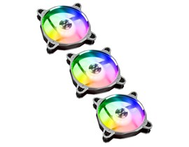 Lian Li Bora Digital RGB PWM Triple Pack - 3x 120mm Fans with Remote Controller - Silver