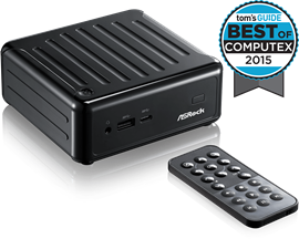 ASRock BeeBox Mini PC Barebone with Intel Celeron N3010 - Supports 2 x DDR3L SO-DIMM, 1 x mSATA, 1 x 2.5 inch HDD, WLAN, BT