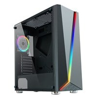 CiT C1007 Mid Tower Gaming Case - Black USB 3.0