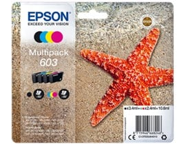 Epson Starfish 603 4-Colour Multipack - Black, Cyan, Magenta and Yellow Ink Cartridges