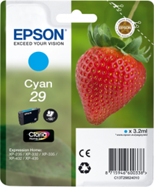 Epson Strawberry 29 Cyan Claria Home Ink