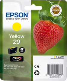 Epson Strawberry 29 (Yield: 180 Pages) Yellow Ink Cartridge