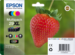 Epson Strawberry 29XL (Black 11.3 ml + Cyan, Magenta, Yellow 6.4 ml) Claria Home Multipack Ink Cartridges for Expression Home XP-235/XP-432/XP-332/XP-435/XP-335 Printers