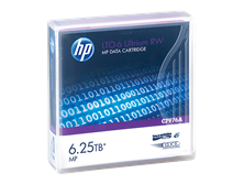 HP Ultrium RW Data Cartridge - LTO Ultrium 6 6.25 TB - for StoreEver LTO-6, MSL2024, MSL4048, MSL8096, StoreEver 1/8 G2 Tape Autoloader