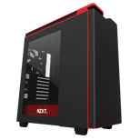 NZXT H440 New Edition Matte Black/Red with Side Window