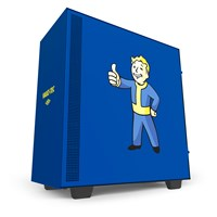NZXT H500 Vault-Boy Edition Mid Tower Gaming Case - Blue USB 3.0