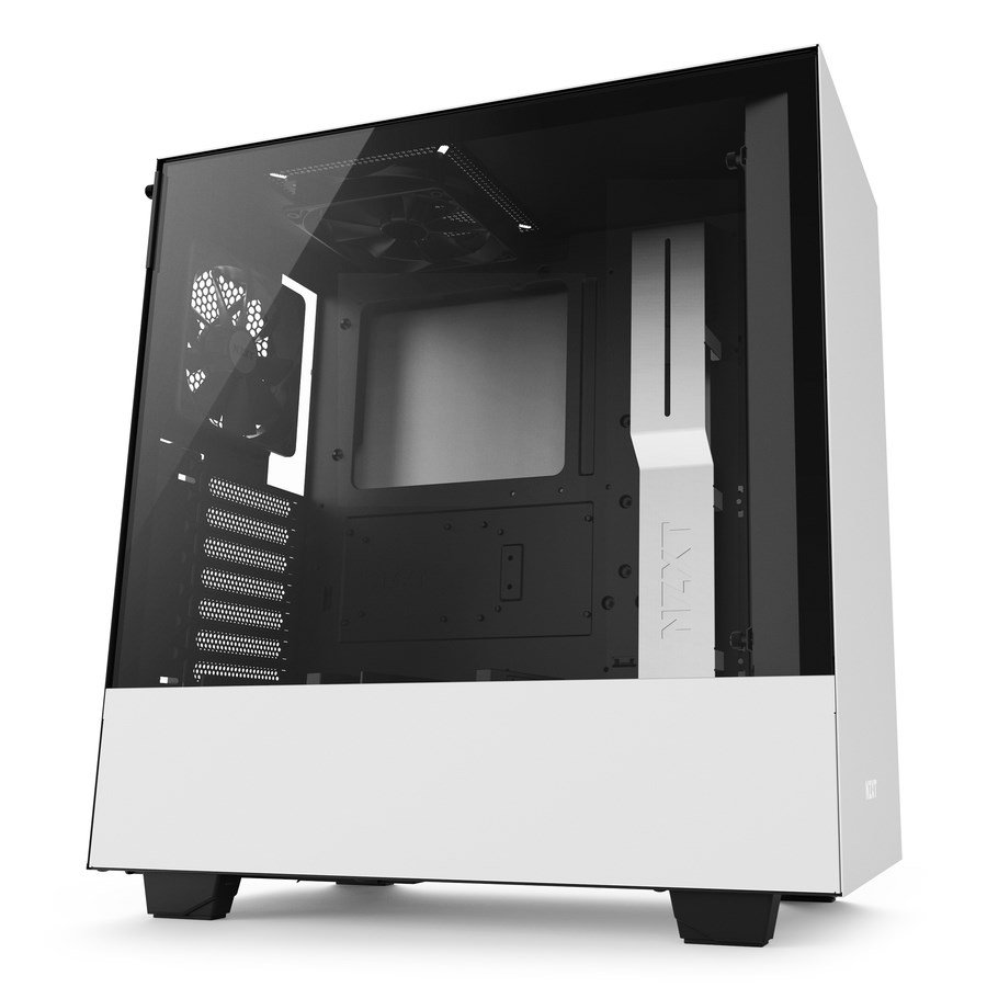 nzxt h500 mid tower gaming case white ca h500b w1 ccl computers