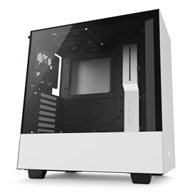 NZXT H500 Mid Tower Gaming Case - White