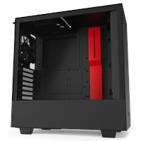 NZXT H510 Mid Tower Gaming Case - Red USB 3.0