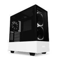NZXT H510 Elite Mid Tower ATX Case in Matte White and Black with Tempered Glass Front and Side, USB Type-C, Smart Device V2, 2x RGB Fans *Open Box*