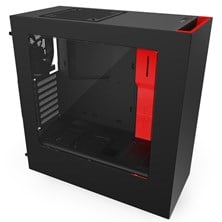 NZXT S340 Red Black Gaming Midi Tower Case