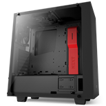 NZXT Source 340 Elite Midi Tower Case (Black/Red)