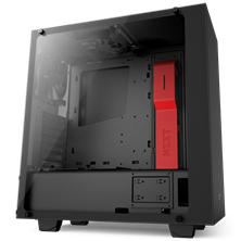 NZXT S340 Elite Red Gaming Midi Tower Case