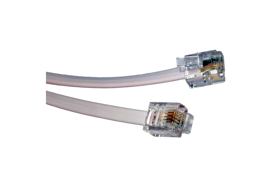 10m rj11 rj11 modem cable adsl extension bt 110 ccl computers. Black Bedroom Furniture Sets. Home Design Ideas